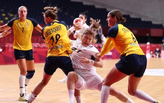 [Tokyo Olympics] S. Korea drops to Sweden in women's handball quarters