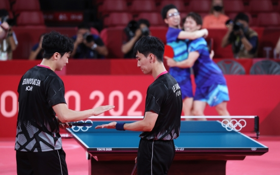 [Tokyo Olympics] S. Korea falls to Japan to miss out on bronze in men's team table tennis