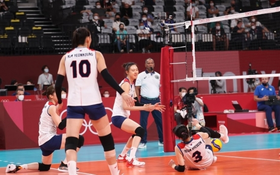 [Tokyo Olympics] S. Korea loses to Brazil, falls to bronze medal match in women's volleyball
