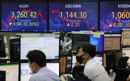 Seoul stocks down for 3rd day after choppy trading