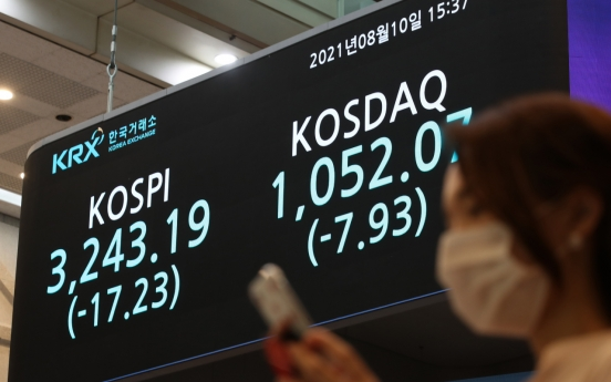 Seoul stocks down for 4th session amid virus concerns, profit-taking
