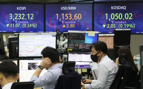 Seoul stocks open lower on virus concerns