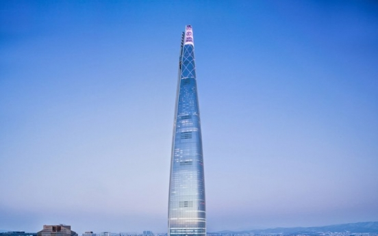 Lotte World Tower office space fully leased for first time