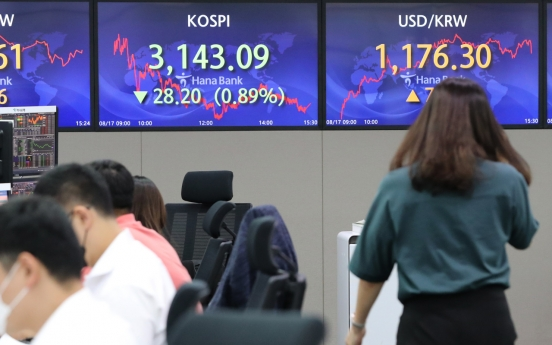 Seoul stocks down for 8th day on disappointing Chinese economic data