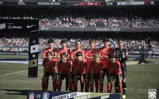 S. Korea to face top-ranked US in women's football friendlies in Oct.