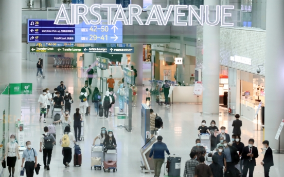 Incheon airport's passenger traffic hits high for 2021 in early Aug.