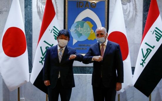 Japanese FM discusses de-escalation with Iranian officials