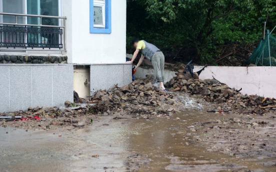 Typhoon Omais leaves behind flooded homes, damaged roads, railways in S. Korea