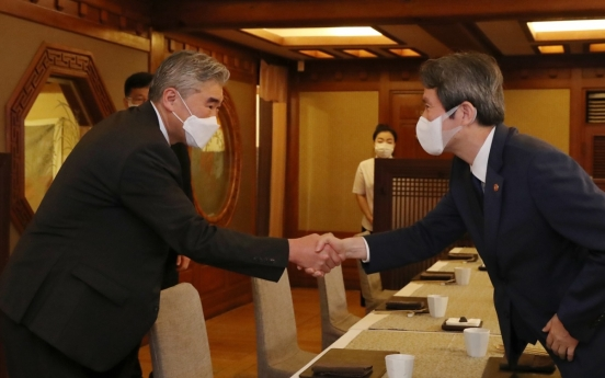 Unification minister, US nuclear envoy discuss ways to restart talks with Pyongyang