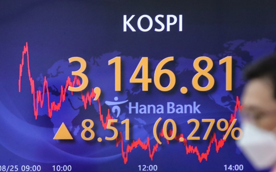 Seoul stocks gain for 3rd day amid tapering uncertainties