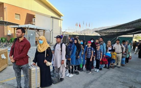 Afghan co-workers, family members on way to S. Korea on aerial tanker