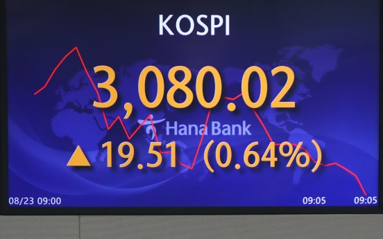 Seoul stocks snap 3-day winning streak on BOK's rate hike