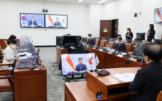 Korea, Singapore discuss mutual recognition of vaccine certificates