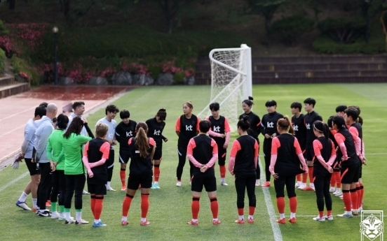 Nat'l women's football roster announced for Asian Cup qualifiers