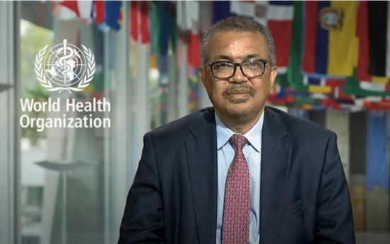 WHO chief welcomes S. Korea's push for regional cooperation forum against health crises