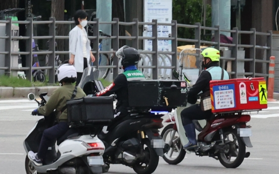 S. Korea sees record number of delivery workers amid pandemic