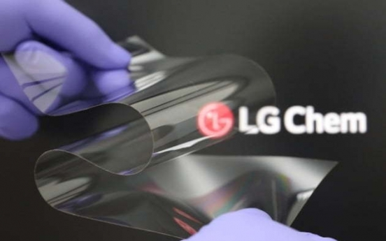LG Chem develops new material for foldable displays