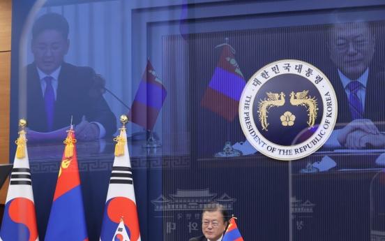 Korea-Mongolia ties elevated to strategic partnership