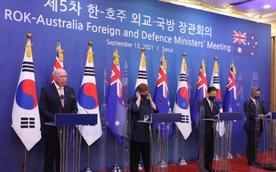 S. Korea, Australia reaffirm commitment to Indo-Pacific stability