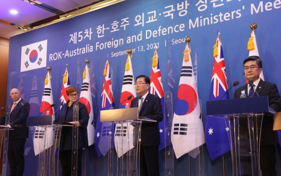 S. Korea, Australia urge N. Korea to return to dialogue 'without preconditions'