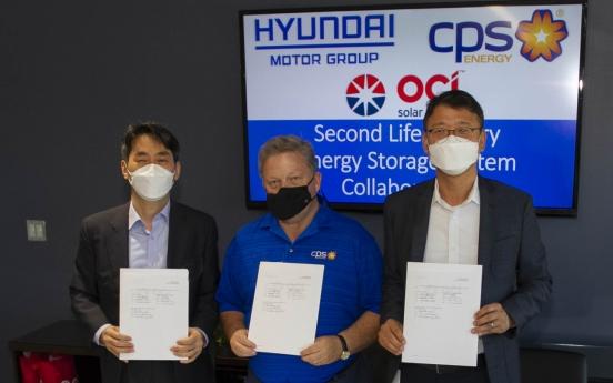 Hyundai Motor to reuse EV batteries as ESS in Texas
