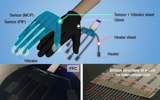 UNIST develops world's 1st all-in-one VR gloves with heat, vibration, motion controls
