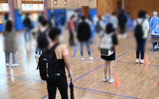 Half of Koreans agree to careful inoculation of teenagers: poll