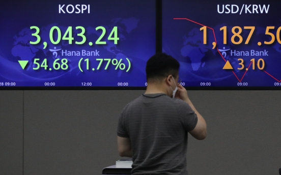 Seoul stocks open steeply lower on US stock plunge