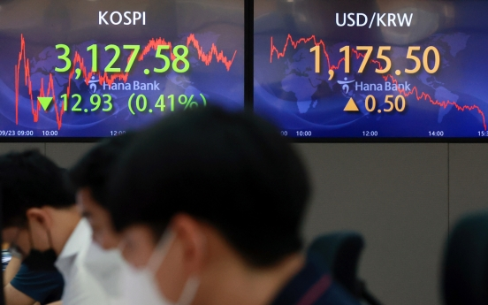 Seoul stocks down for 2nd day amid US bond yield woes