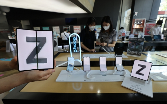 Domestic sales of Samsung's new foldable smartphones to top 1m units