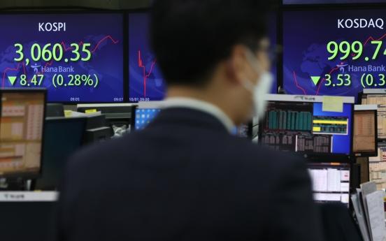 S. Korea's stocks slump amid China's Evergrande crisis, US tapering woes