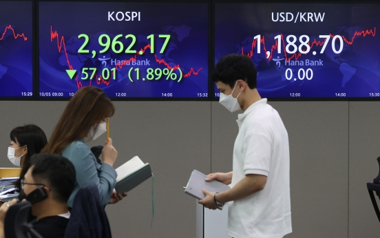 S. Korean stock market nosedives to almost 7-month low