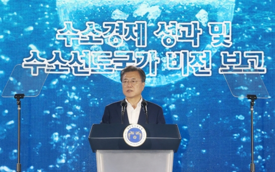Moon vows to further push hydrogen economy initiative
