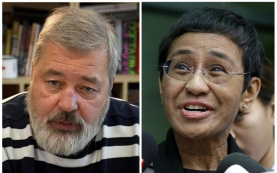 Journalists from Philippines, Russia given Nobel Peace Prize