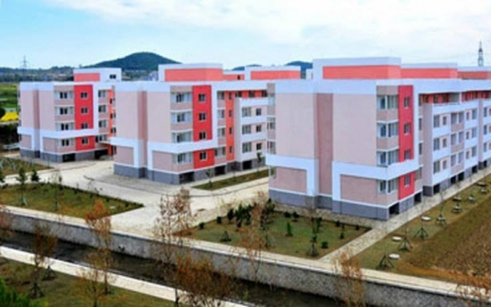 N. Korea unveils new apartment construction site under plan to build 10,000 homes this year