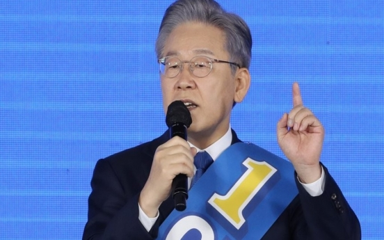 Lee Jae-myung becomes final presidential candidate for ruling party