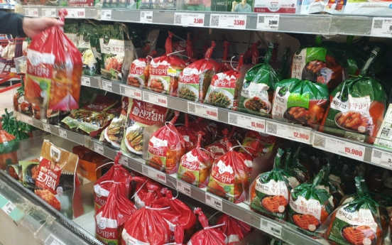 S. Korea's exports of kimchi up 13.8% in Jan.-Aug.