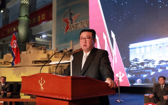 Kim vows to boost military capability, but says South Korea or the US are not the enemy