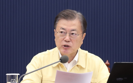 President Moon urges financial authorities to ensure smooth supply of 'jeonse' loans