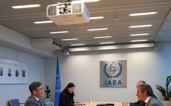 IAEA chief vows close consultations with S. Korea over Japan's Fukushima water release plan