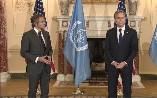 Blinken meets IAEA director-general for talks on Iran, N. Korea
