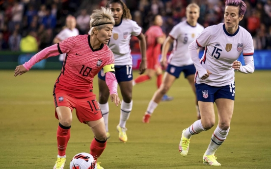S. Korea hold mighty US to scoreless draw in women's football friendly