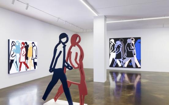 British artist Julian Opie's animal sculptures, Incheon-inspired work unveiled at Kukje Gallery