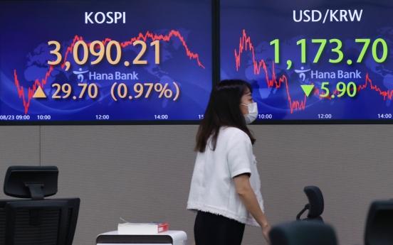 Seoul stocks snap 3-day losing streak on earnings hope