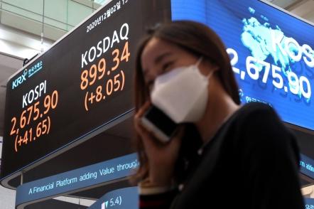 Kospi rises 10th-sharpest among G-20 bourses in November