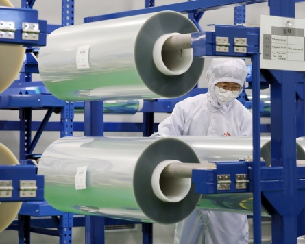 [Photo News] SK's flexible material ready to roll out
