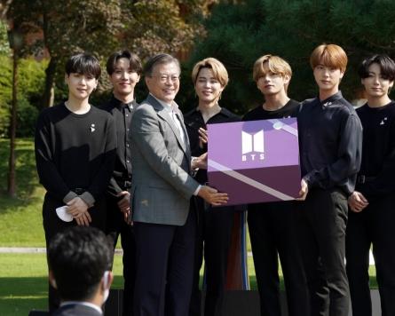 Moon is a big BTS fan: Cheong Wa Dae