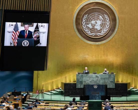 World powers clash, virus stirs anger at virtual UN meeting