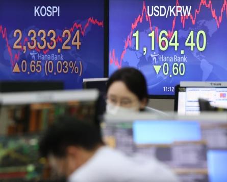 Seoul stocks slightly up on bargain-hunting