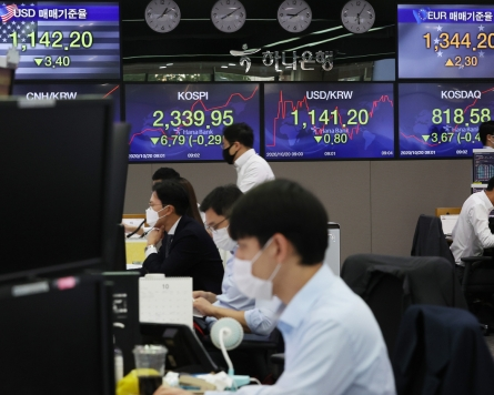 Seoul shares open nearly flat amid stalled US stimulus talks